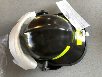 "Black Standar Fire Dex 911 Helmet ""new""  & 4"" Visor # 911H714 (165137)"