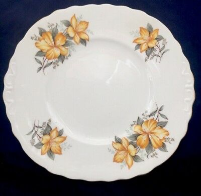 Royal Vale China Yellow Floral Cake Plate Bbb