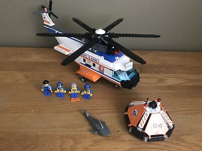Lego City Coast Guard Helicopter And Life Raft Set 7738 With