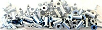 "Fabory Zinc Plated  #6-32 Steel Flanged Rivet Nuts 0.010"" to 0.075"" Grip 100 Pcs"
