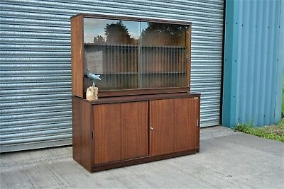 Large Office Bookcase Cupboard Vintage Retro.