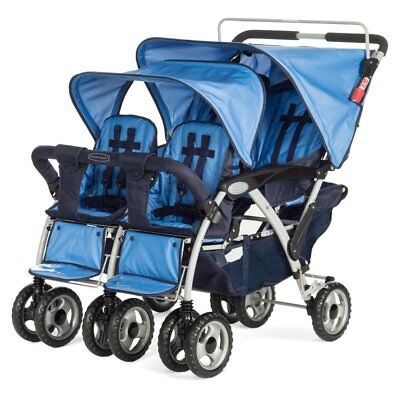Child Craft Sport Quad Multi Child Stroller - Regatta Blue