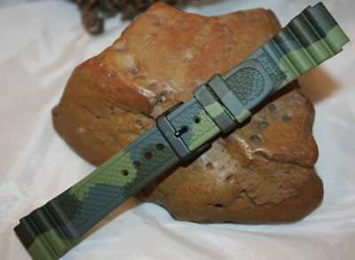 KHS Tactical Watches Diver Armband Camouflage Olive Silikon Gr.22 KHS.EBDC3.22