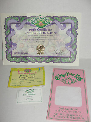 Colorful newfoundland birth certificate replacement ensign for Cabbage patch kid birth certificate template