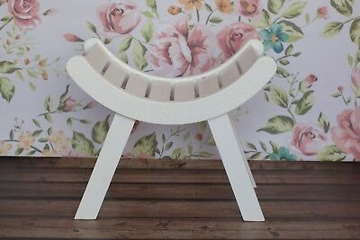 Curved wooden bench  Newborn Photo Props
