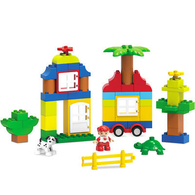 63Pcs Cabin Building Blocks City DIY Creative Bricks Educational Toy Gift For