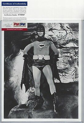 Adam West Batman Television Actor Autographed 8x10 Photo PSA COA