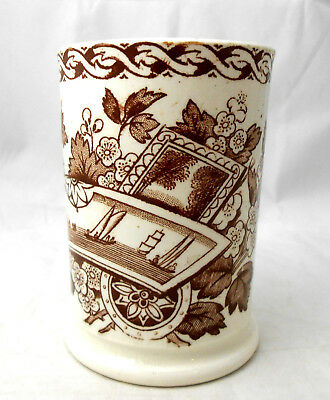 Antique Aesthetic Holmes&Plant CUP/ UTENSIL/TOOTHBRUSH HOLDER Ships & Lighthouse