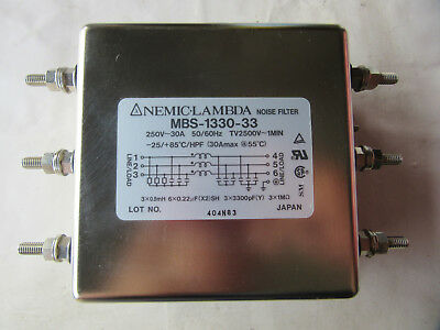 Nemic-Lambda MBS-1330-33 Noise Filter 30A 250V NEW!!! with Free Shipping