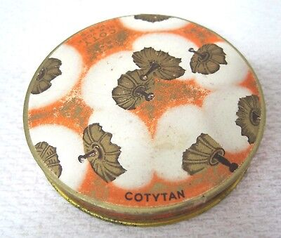 Vintage Cody Paper and Tin Powder Box  Powder Puff Design T48