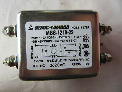 Nemic-Lambda MBS-1210-22 Noise Filter 10A 250V NEW!!! with Free Shipping