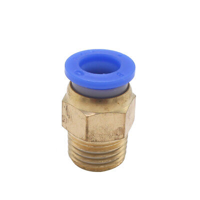 "10PCS 1/4"" PT Male Thread 8mm Push In Joint Pneumatic Connector Quick Fittings"