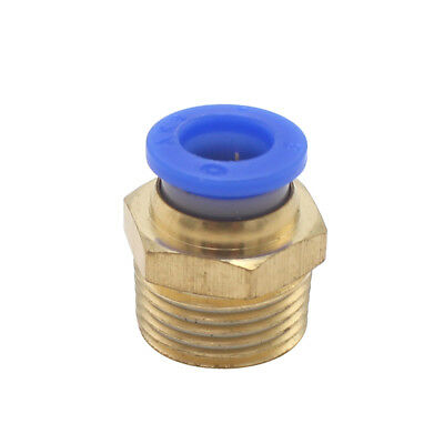"5PCS 3/8"" PT Male Thread 8mm Push In Joint Pneumatic Connector Quick Fittings"