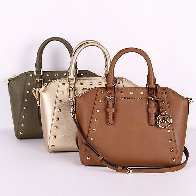 37e475eb0ed4 NWT Michael Kors CIARA STUDDED Medium Messenger Crossbody Bag in Various  Colors