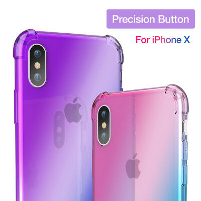 KISSCASE Shockproof Gradient Soft TPU Case Cover For IPhone 6 6s 7 7 8 Plus 8/X