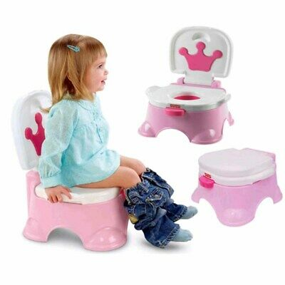 3 in 1 Baby Toddler Toilet Trainer Safety Pink Music Potty Training Seat Fun UK