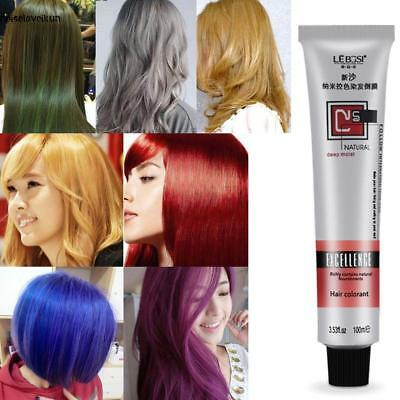 7 Colors 100ml Professional Long Lasing Permanent Hair Dye Bright Hair Color