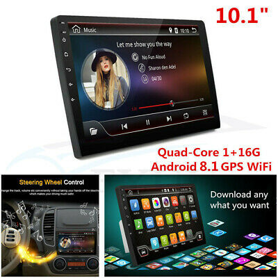 "10.1"" Ultra Thin Android 8.1 2Din Quad-Core 1+16G Car Stereo Radio GPS Wifi RDS"
