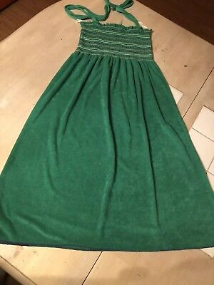 954755775a793 Tube Terry Cloth Swimsuit Cover Up Dress Green Size Medium Juniors EUC