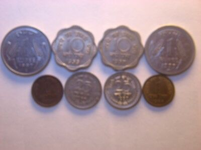 India - Republic  1  , 10 , 25  Paise  &    Rupee 1958 -1999