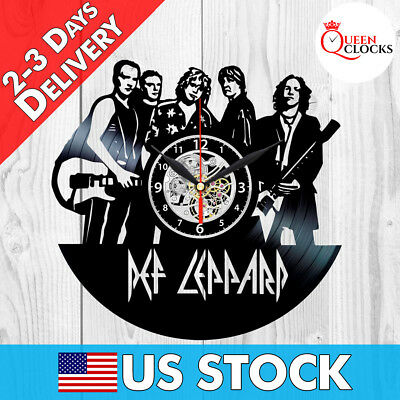 Def Leppard Hysteria LP Music Vinyl Record Wall Clock Best Gifts Home Room Decor