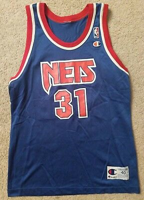 VINTAGE ED O BANNON New Jersey Nets Rookie Champion Jersey 48 UCLA ... add0470fc
