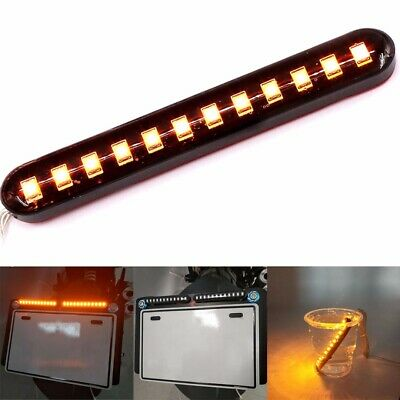 Water Flowing 12LED Strip Turn Signal Tail Light Amber 12V Car Motorcycle