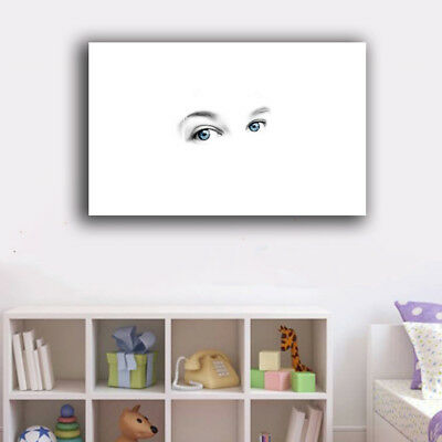 Framed Canvas Prints Stretched Abstract Eyes Wall Art Home Decor Painting Gift