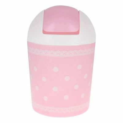Design of lace garbage pink garbage can N3Z8