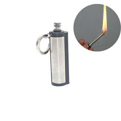 5xStainless Steel Oil Gas Keychain Match Lighter Outdoor Camping Survival Tool