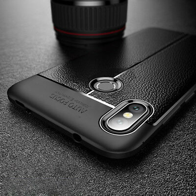 For Xiaomi Mi A2  / A2 Lite  Shockproof Rubber Leather Back TPU Case Cover
