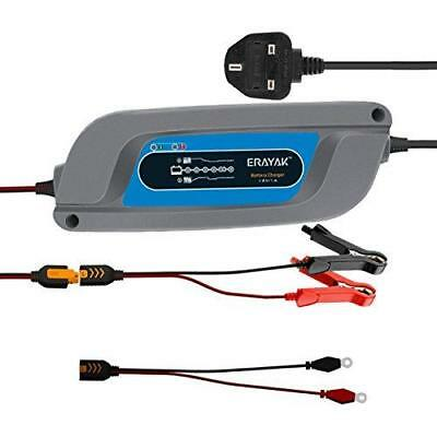 12V 1A Battery Chargers 6 Steps, ERAYAK 12 Volts Automatic Trickle Charger...