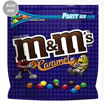 913577 1kg BULK BAG OF M&M'S CARAMEL CHOCOLATE CANDIES PARTY SIZE RESEALABLE!
