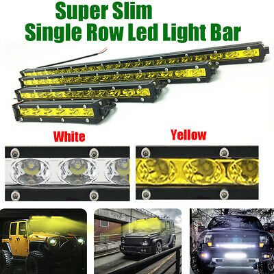 "Ultra Slim 7"" 13 20 25 32 38 45 50"" inch 144W Single Row LED Work Light Bar SUV"