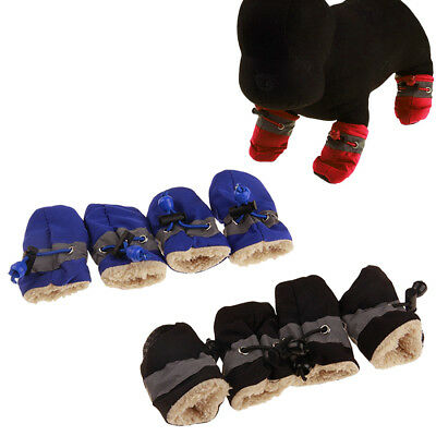 4pcs Pet Dog Shoes Winter Anti-Slip Rain Snow Boots Cats Puppy Foot Sock Booties