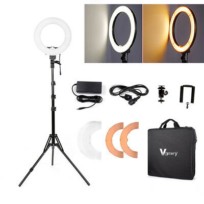 Studio Photo Video LED Ring Light + Camera iPhone Holder + 185cm Stand