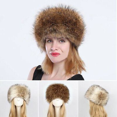 New Fashion Womens Faux Fox Fur Hat Russian Winter Ear Warm Cap Ushanka Cossack