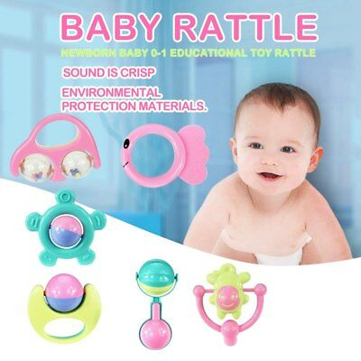 6 sets of baby teether rattle baby rattle newborn baby 0-1 educational toys KL2