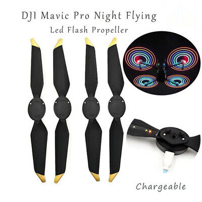 2 Pairs Low-noise Quick-release LED Flash Propellers for DJI Mavic Pro Accessory