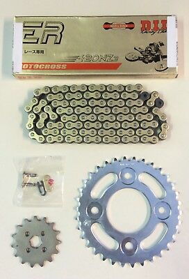 DID Heavy Duty Gold Drive Chain & JT Sprocket Kit For Honda MSX125 Grom 13-18