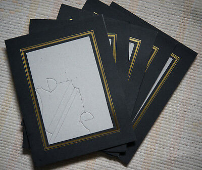 pack of 5 black gold picture photo strut mounts with easel wall mount