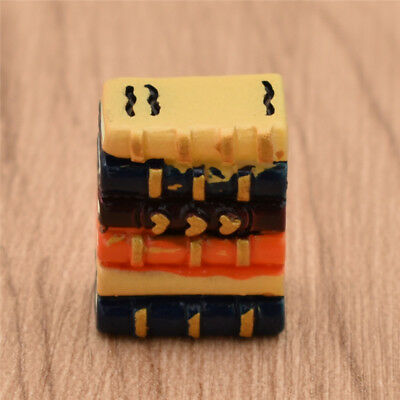 1:12 Mini Book 6pcs/set Dollhouse Miniatures Resin for Doll House Furniture Toys