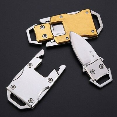Tactical Keychain Keyring Mini Folding Pocket knife Outdoor Survival EDC Tool