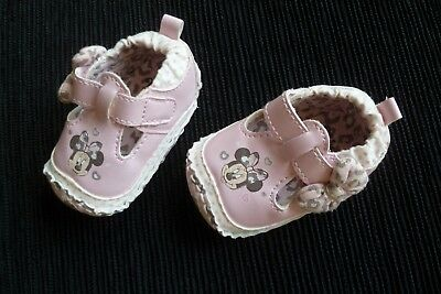 Baby clothes GIR 0-3m 10cm DISNEY Minnie Mouse pink padded pram shoes SEE SHOP!