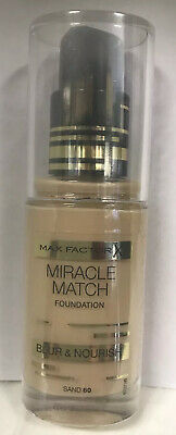 Max Factor Miracle Match Foundation Blur & Nourish 30ml. 60/Sand / Sealed