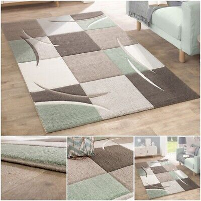 New Quality Rug Modern Home Highlight Thick Living Area Carpet in Green Tones