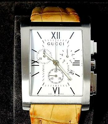 GUCCI GENTS CHRONO SWISS WATCH BOXED GUCCI 860  chrono STUNNING SPECIAL £100 OFF