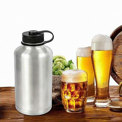 Beer Water Bottle 64oz 1.8L Outdoor Double Wall Vacuum Stainless Steel Insulated