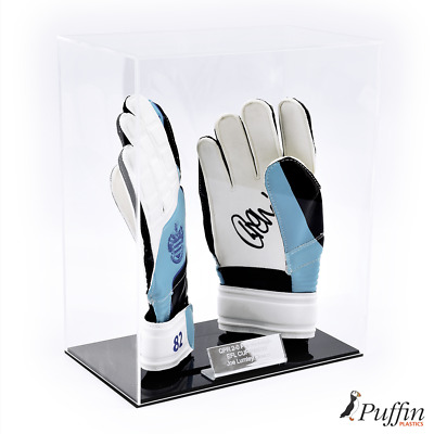 Perspex Goalkeeper Glove Display Case (With Free Inscription Plaque)