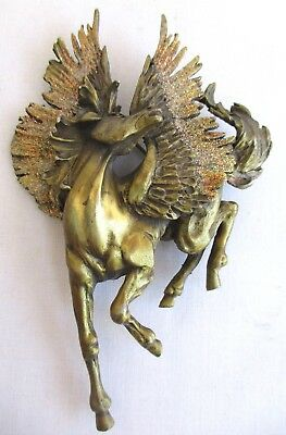 Vtg..signed..jj..pewter..pegasus..flying Horse..large..pin / Brooch